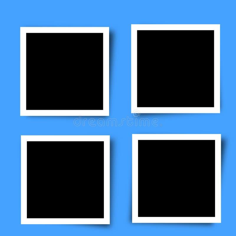 Σύνολο αναδρομικών πλαισίων φωτογραφιών ελεύθερη απεικόνιση δικαιώματος