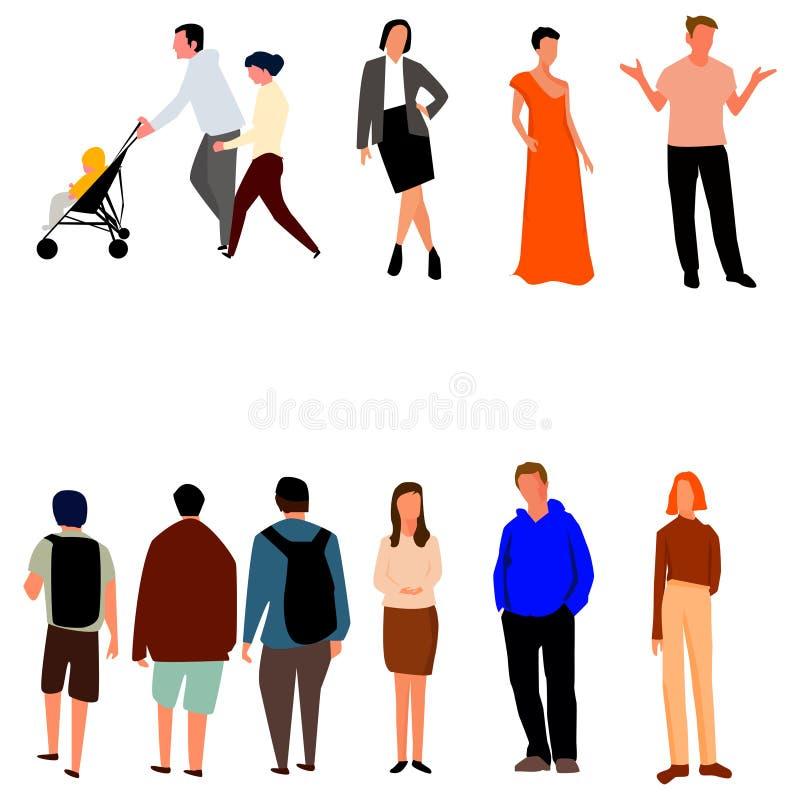 Σύνολο ανθρώπων με τα διαφορετικά επαγγέλματα r απεικόνιση αποθεμάτων
