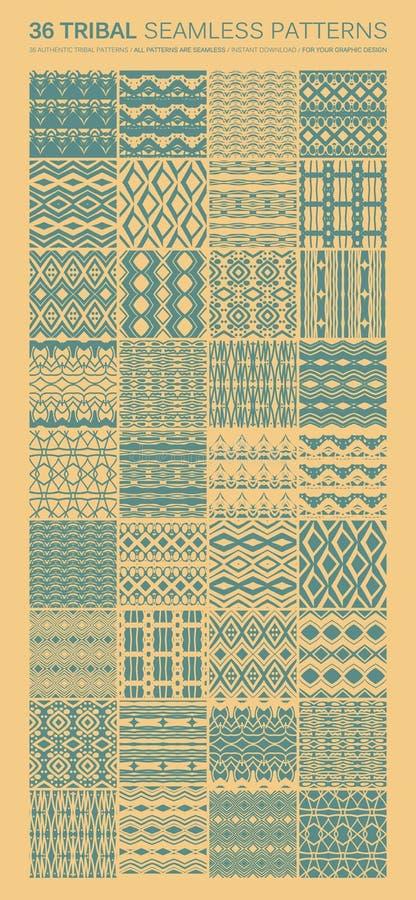 Σύνολο απλής άνευ ραφής διανυσματικής διακόσμησης 36 διανυσματική απεικόνιση