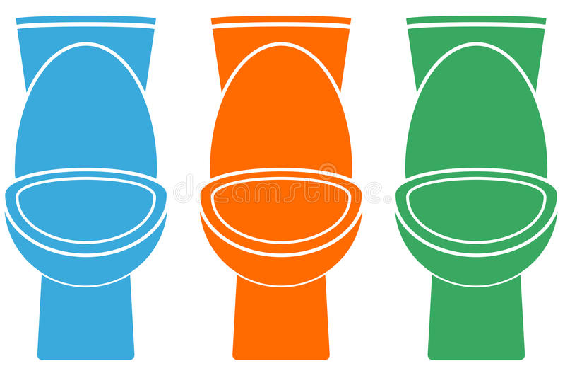 Σύνολο απομονωμένης ζωηρόχρωμης τουαλέτας διανυσματική απεικόνιση