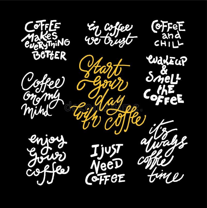 Σύνολο αποσπασμάτων καφέ απεικόνιση αποθεμάτων
