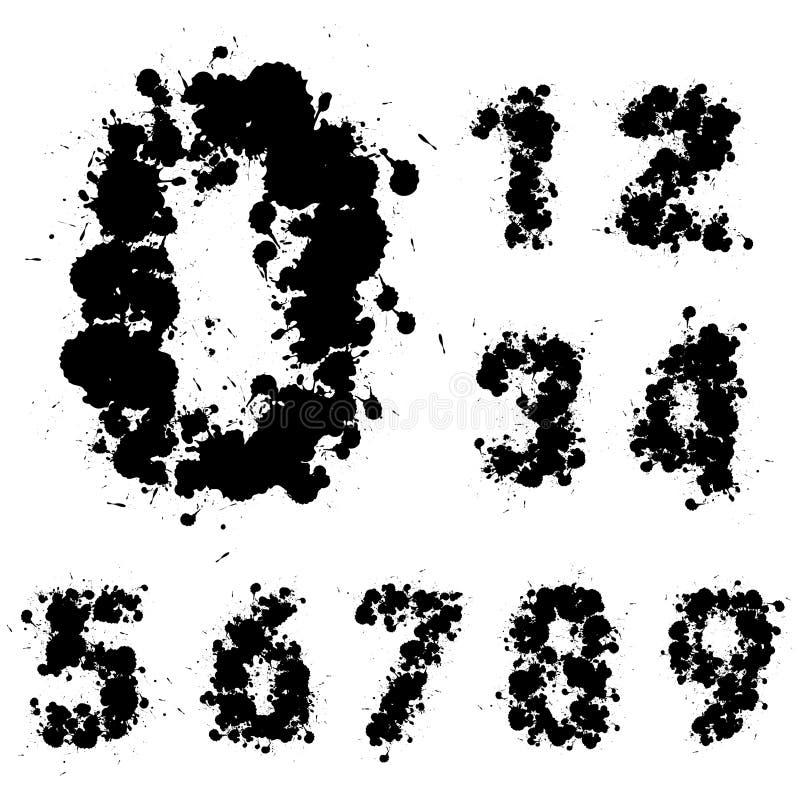 Σύνολο αριθμού, συλλογή διανυσματική απεικόνιση