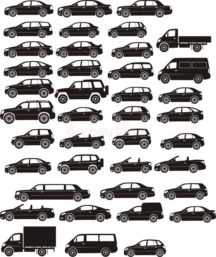 σύνολο αυτοκινήτων ελεύθερη απεικόνιση δικαιώματος