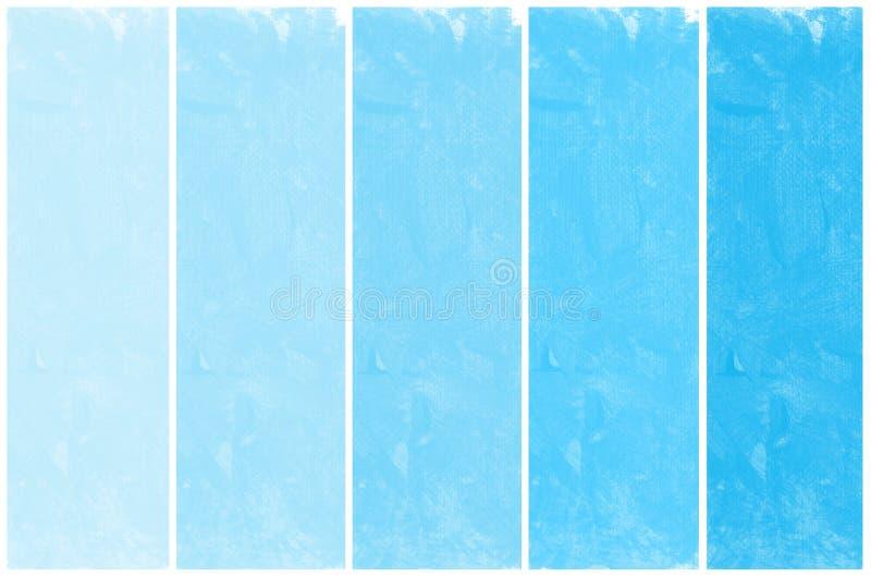 Σύνολο αφηρημένου μπλε χεριού watercolor που χρωματίζεται ελεύθερη απεικόνιση δικαιώματος