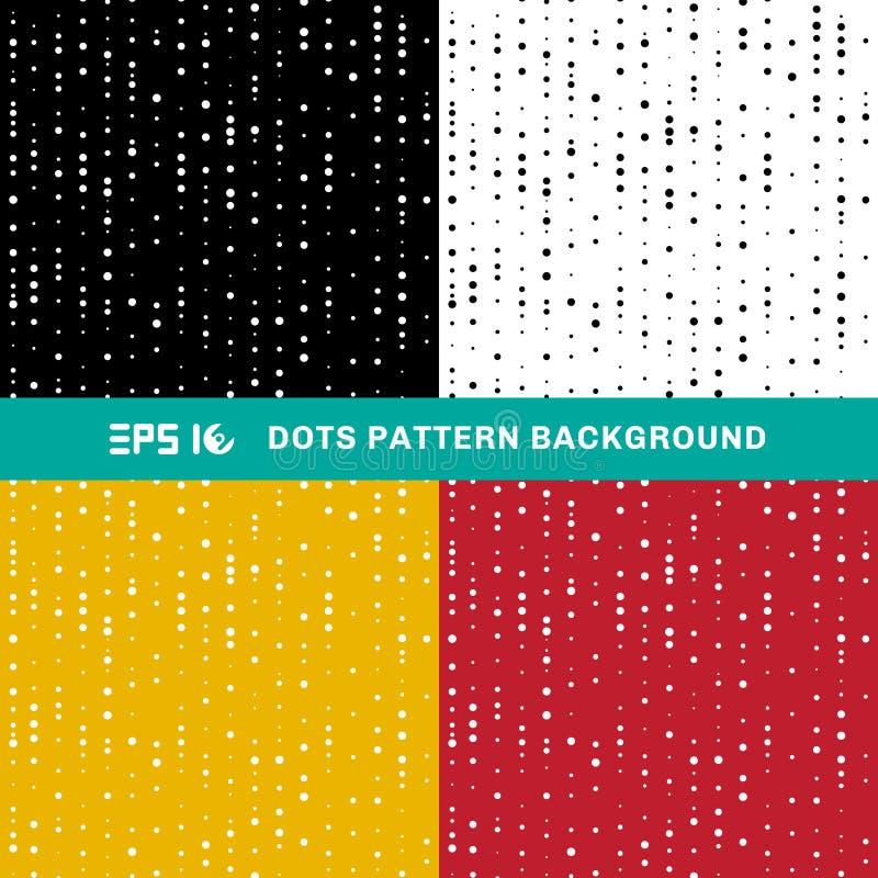 Σύνολο αφηρημένων γεωμετρικών κύκλων σχεδίων σημείων του τυχαίου μεγέθους επάνω διανυσματική απεικόνιση