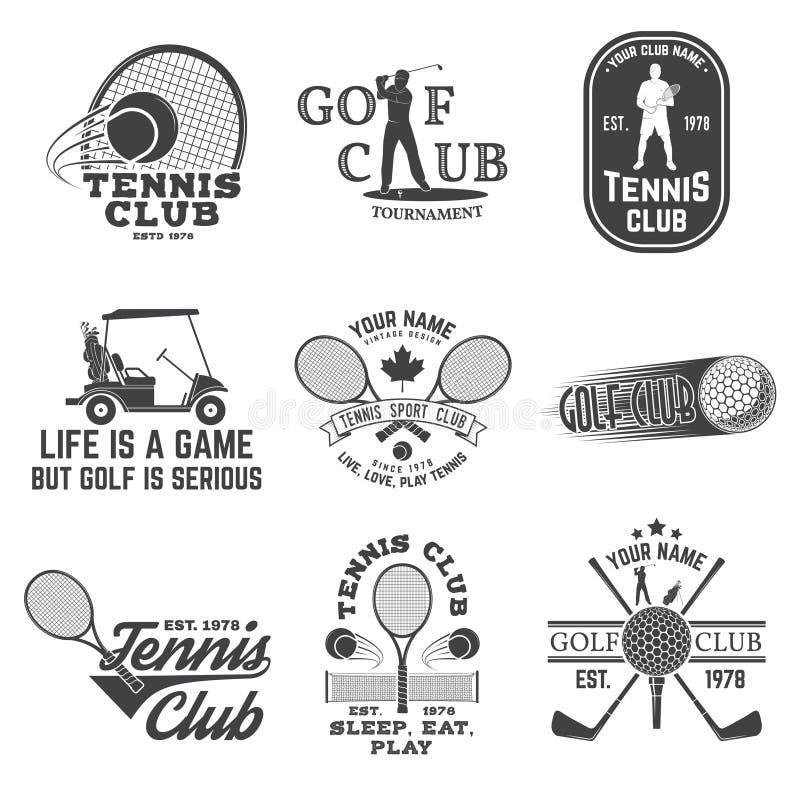 Σύνολο γκολφ κλαμπ, έννοια λεσχών αντισφαίρισης επίσης corel σύρετε το διάνυσμα απεικόνισης ελεύθερη απεικόνιση δικαιώματος