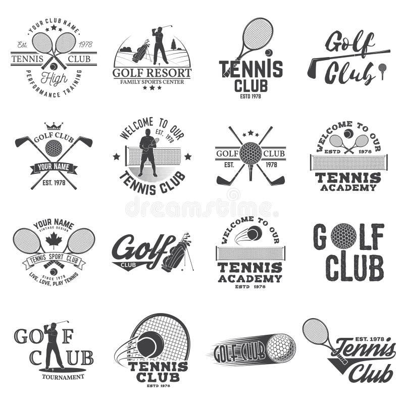 Σύνολο γκολφ κλαμπ, έννοια λεσχών αντισφαίρισης ελεύθερη απεικόνιση δικαιώματος