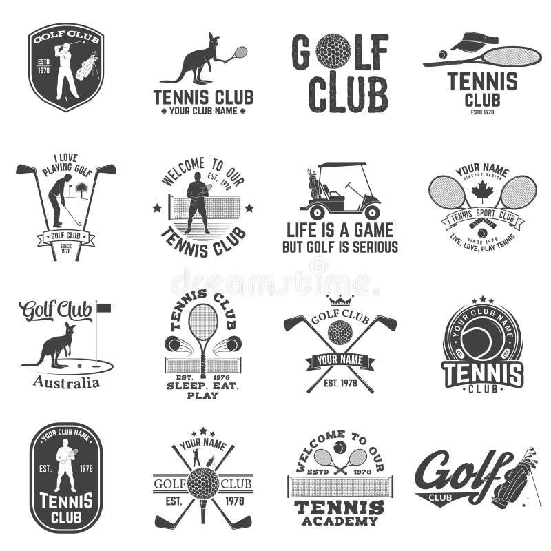Σύνολο γκολφ κλαμπ, έννοια λεσχών αντισφαίρισης διανυσματική απεικόνιση
