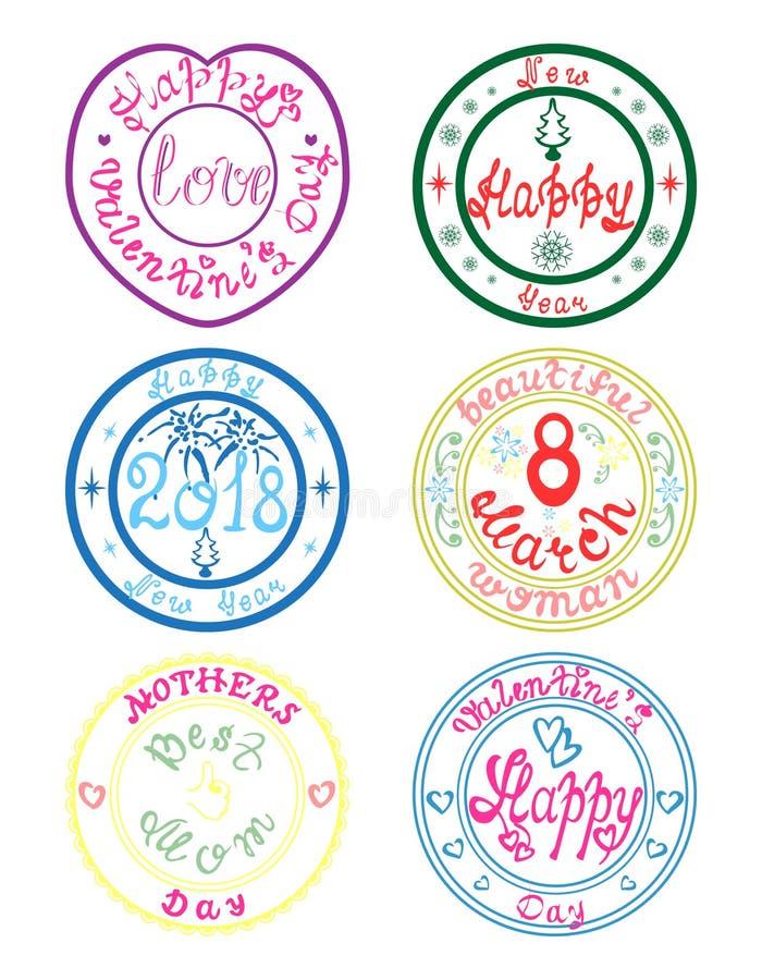 Σύνολο γραμματοσήμων διακοπών στοκ εικόνες με δικαίωμα ελεύθερης χρήσης