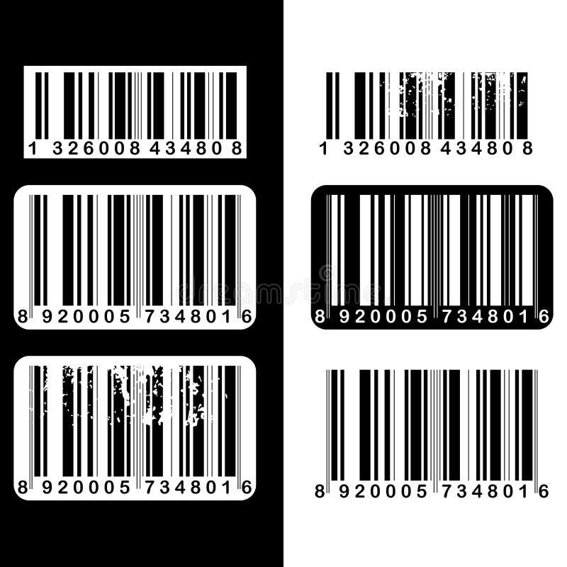 σύνολο γραμμωτών κωδίκων διανυσματική απεικόνιση