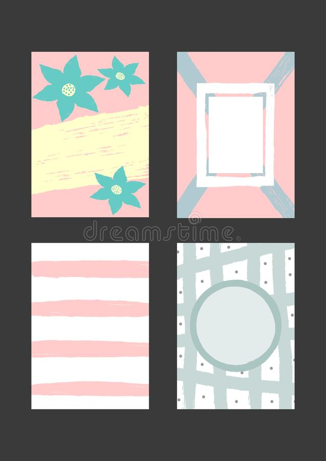 Σύνολο δημιουργικών προτύπων για το σχέδιο των υποβάθρων, κάρτες, προσκλήσεις, καλύψεις, βιβλιάρια, ιπτάμενα ελεύθερη απεικόνιση δικαιώματος