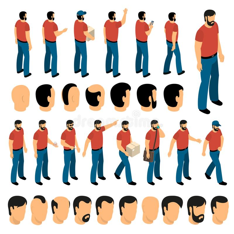 Σύνολο δημιουργιών χαρακτήρων ατόμων διανυσματική απεικόνιση