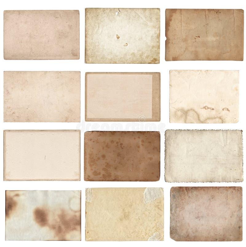 Σύνολο διάφορων αναδρομικών παλαιών φωτογραφιών που απομονώνεται ελεύθερη απεικόνιση δικαιώματος