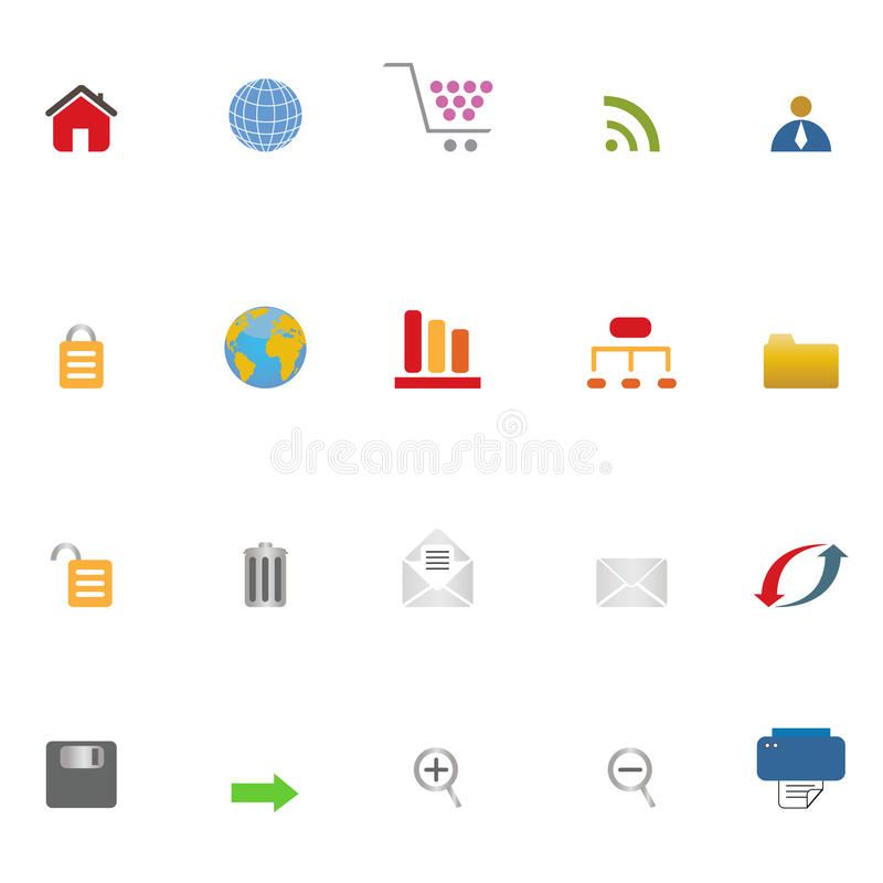 Download σύνολο Διαδικτύου εικ&omi διανυσματική απεικόνιση. εικονογραφία από γραφικός - 13176034