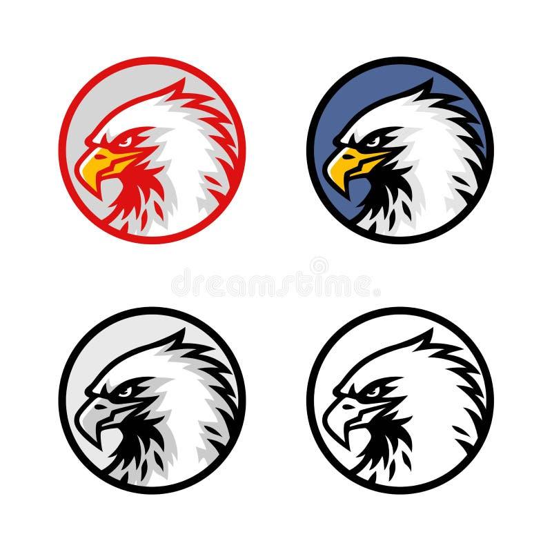 Σύνολο διανυσματικού σχεδίου λογότυπων αετών επικεφαλής, σημάδι, εικονίδιο, απεικόνιση απεικόνιση αποθεμάτων