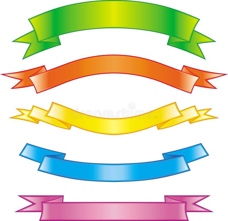 Σύνολο διανυσματικών κορδελλών διανυσματική απεικόνιση