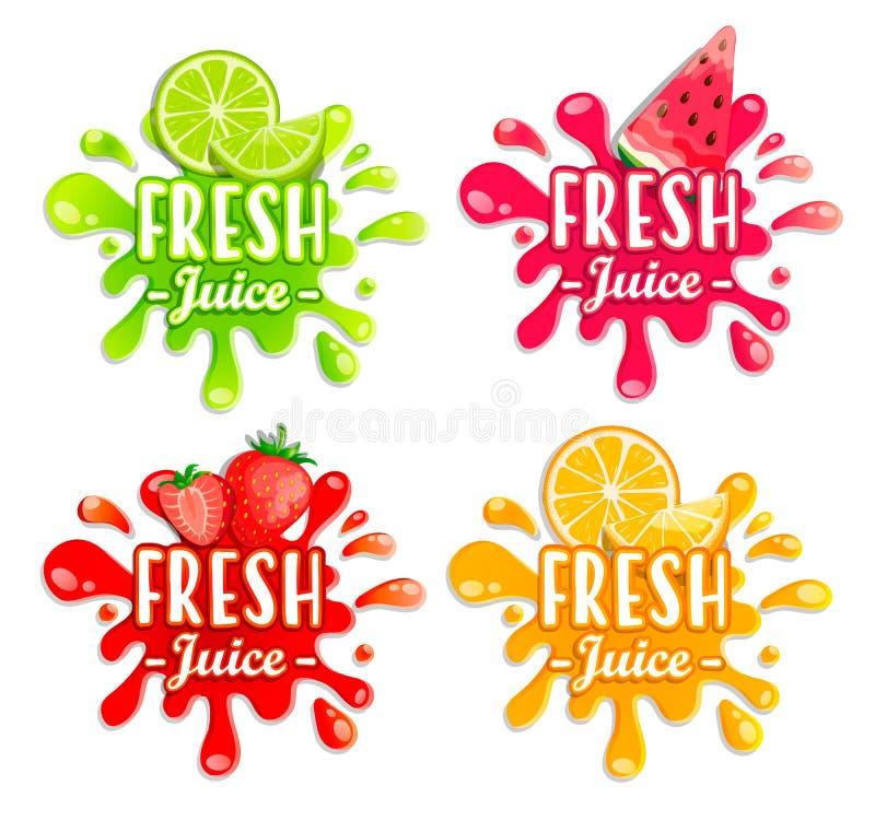 Σύνολο διαφορετικών παφλασμών φρούτων απεικόνιση αποθεμάτων
