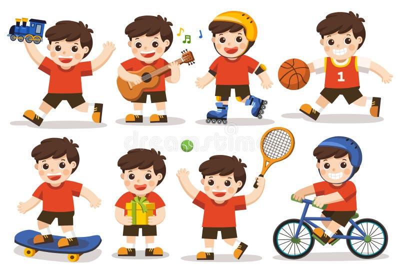 Σύνολο δραστηριότητας παιδιού ελεύθερη απεικόνιση δικαιώματος