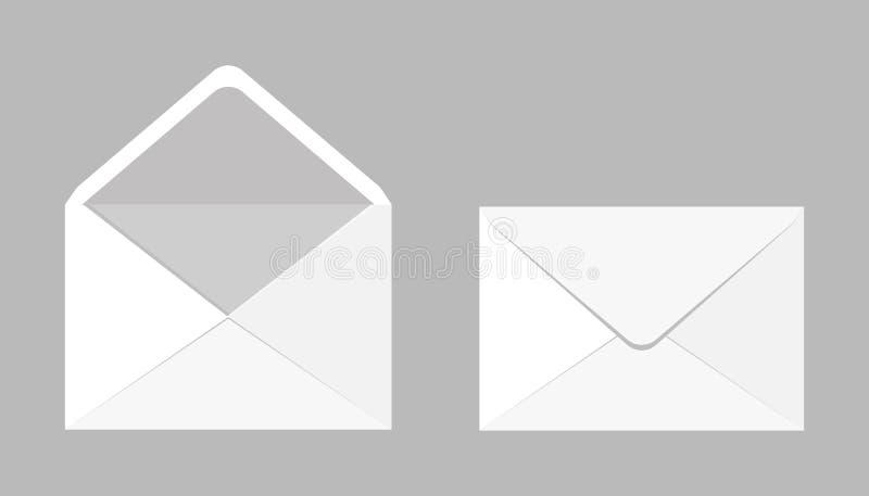 Σύνολο δύο κενών ρεαλιστικών φακέλων για τα έγγραφα Ένας φάκελος ελεύθερη απεικόνιση δικαιώματος