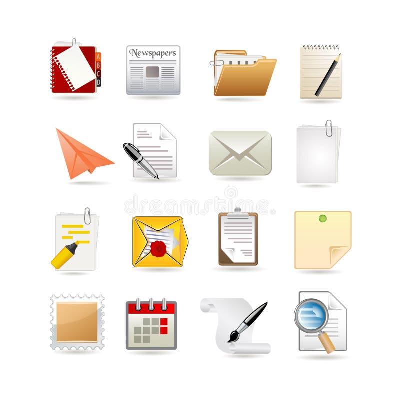 σύνολο εγγράφου εικον&io διανυσματική απεικόνιση