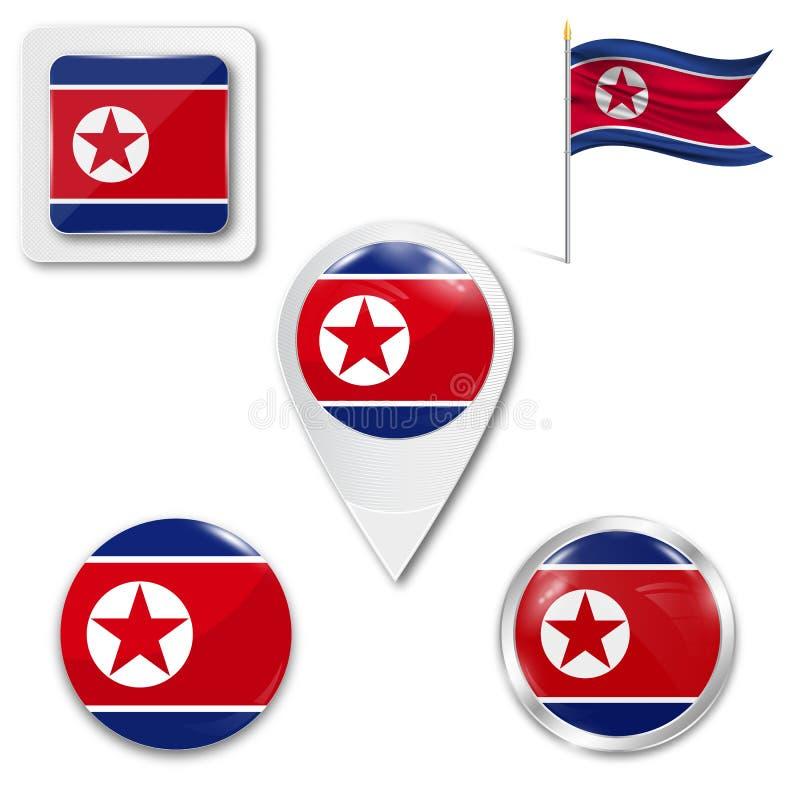 Σύνολο εθνικής σημαίας απεικόνιση αποθεμάτων