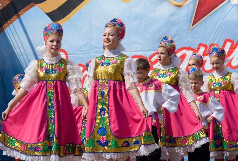 σύνολο εθνική Ρωσία χορού στοκ φωτογραφίες με δικαίωμα ελεύθερης χρήσης