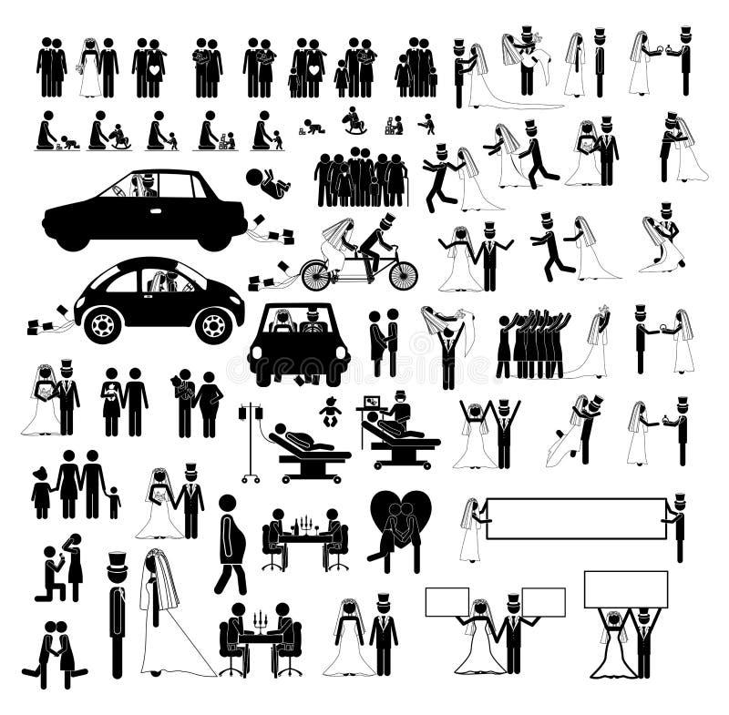Σύνολο εικονιδίων ανθρώπων στο επίπεδο ύφος, διανυσματική απεικόνιση διανυσματική απεικόνιση