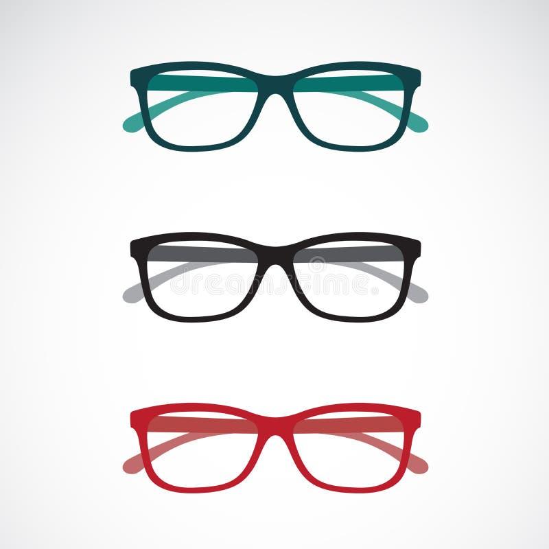 Σύνολο εικονιδίων γυαλιών ματιών που απομονώνονται στο άσπρο υπόβαθρο διανυσματική απεικόνιση