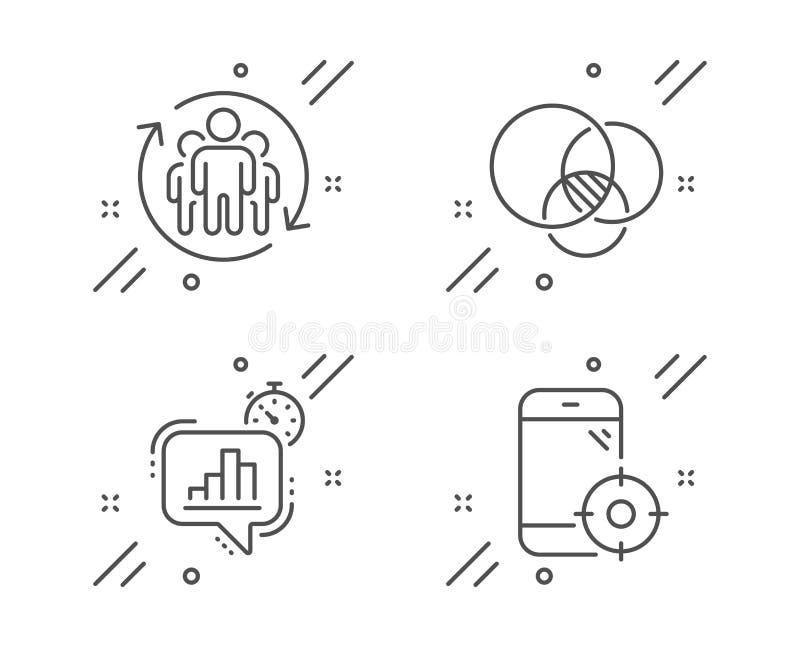Σύνολο εικονιδίων διαγραμμάτων Statistics mer, Teamwork and Euler Σήμα τηλεφώνου Διάνυσμα ελεύθερη απεικόνιση δικαιώματος