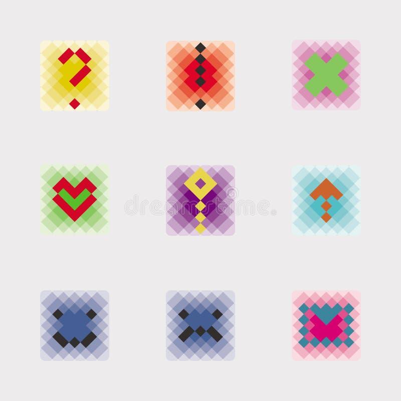Σύνολο εικονιδίων εικονοκυττάρου στοκ εικόνες με δικαίωμα ελεύθερης χρήσης
