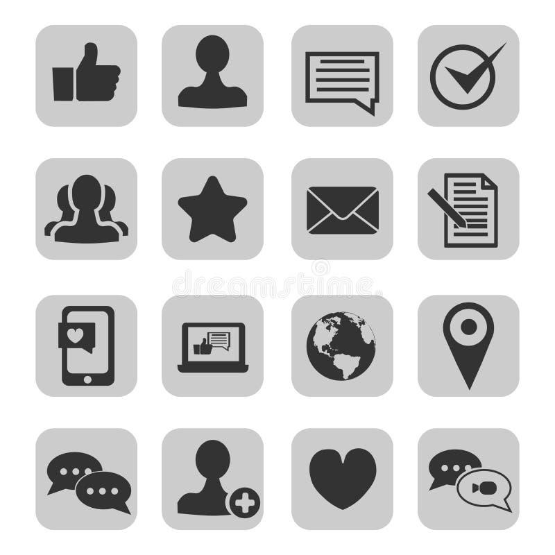 Σύνολο εικονιδίων επαφών και υποστήριξης Περιέχει τα εικονίδια ως τηλεφώνημα, πελάτη, ηλεκτρονικό ταχυδρομείο, faq και περισσότερ ελεύθερη απεικόνιση δικαιώματος