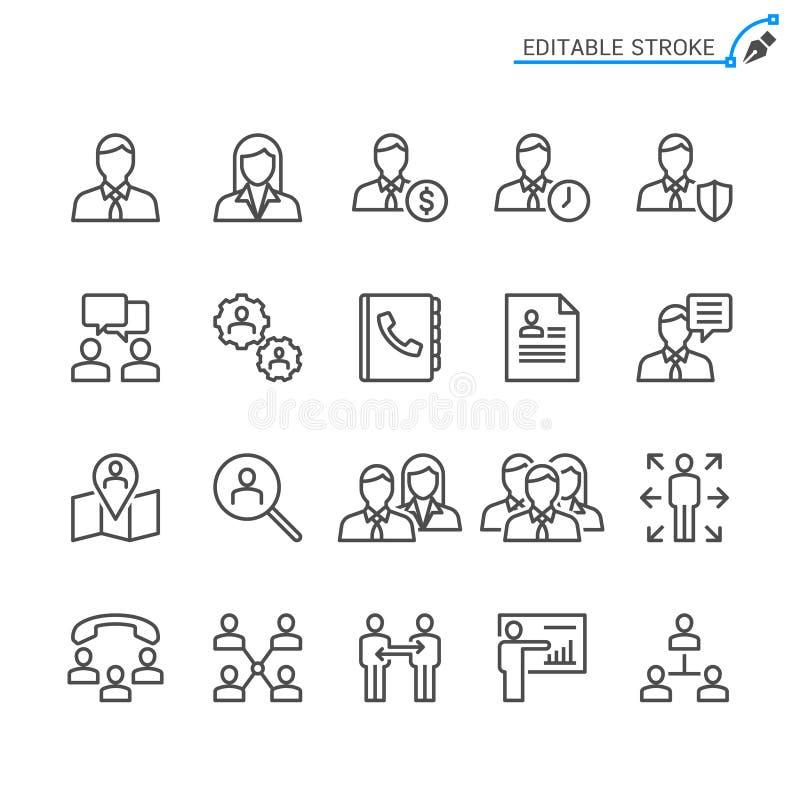 Σύνολο εικονιδίων επιχειρησιακών περιλήψεων απεικόνιση αποθεμάτων