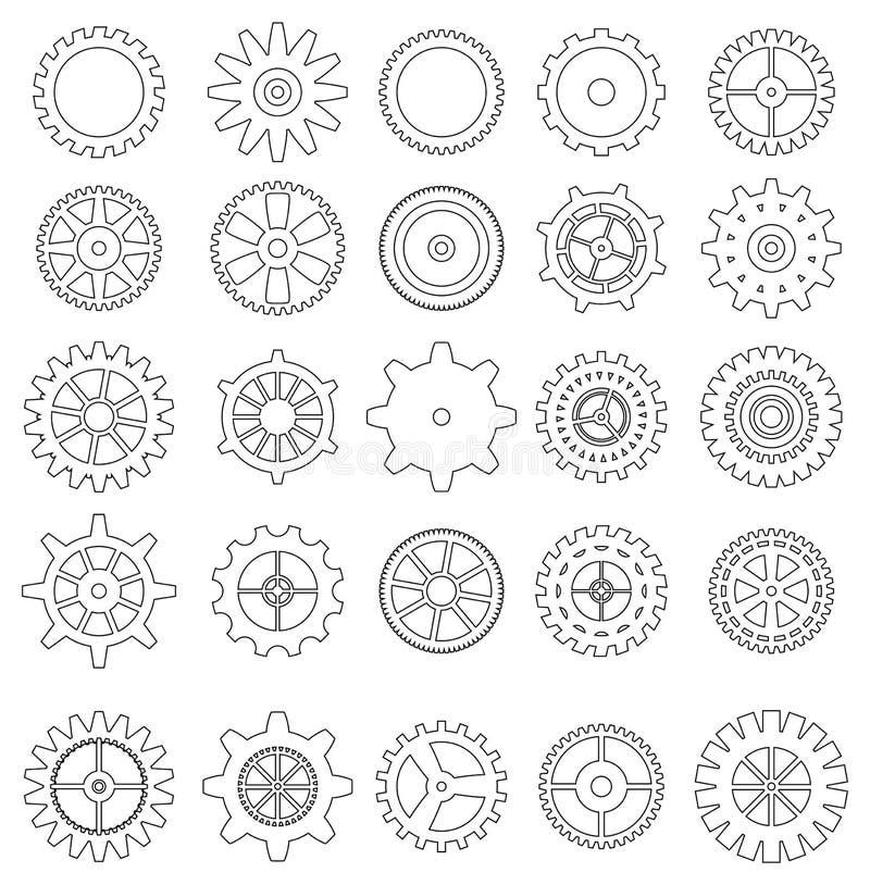 Σύνολο εικονιδίων εργαλείων διανυσματική απεικόνιση