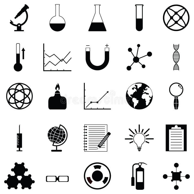 Σύνολο εικονιδίων εργαστηρίων απεικόνιση αποθεμάτων
