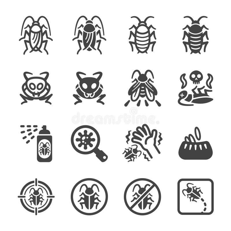 Σύνολο εικονιδίων κατσαρίδων ελεύθερη απεικόνιση δικαιώματος