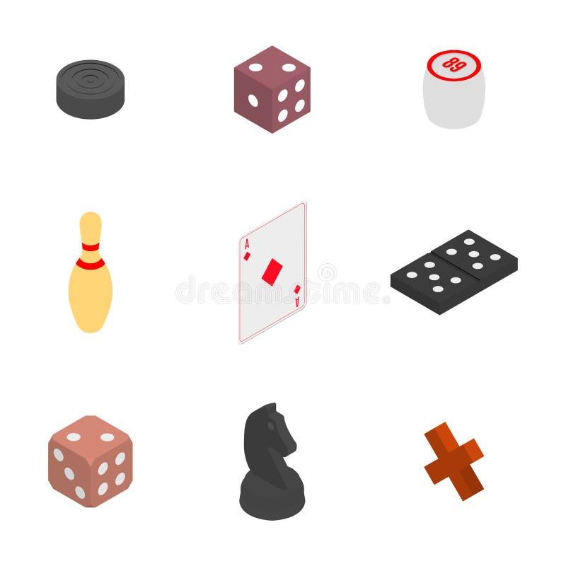 Σύνολο εικονιδίων παιχνιδιών, διανυσματική απεικόνιση διανυσματική απεικόνιση