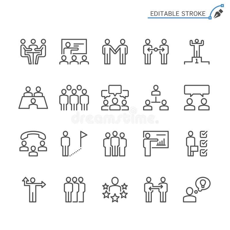 Σύνολο εικονιδίων περιλήψεων επιχειρηματιών διανυσματική απεικόνιση