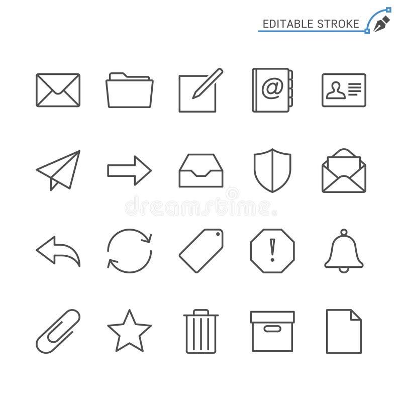 Σύνολο εικονιδίων περιλήψεων ηλεκτρονικού ταχυδρομείου απεικόνιση αποθεμάτων