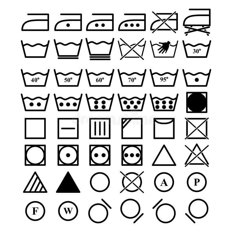Σύνολο εικονιδίων πλυντηρίων ελεύθερη απεικόνιση δικαιώματος