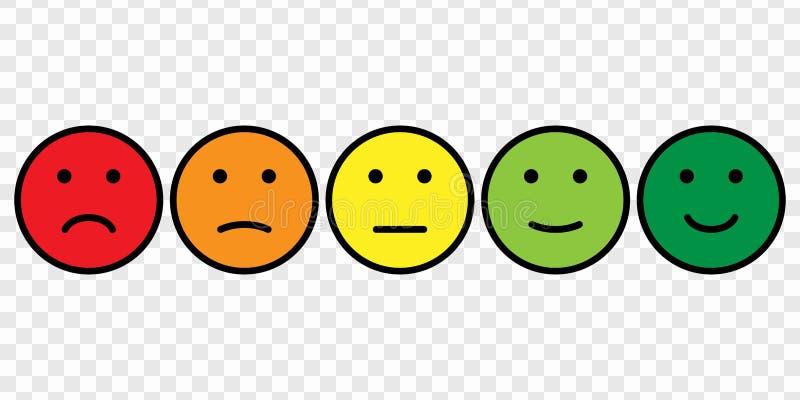 Σύνολο εικονιδίων προσώπου Smiley ελεύθερη απεικόνιση δικαιώματος