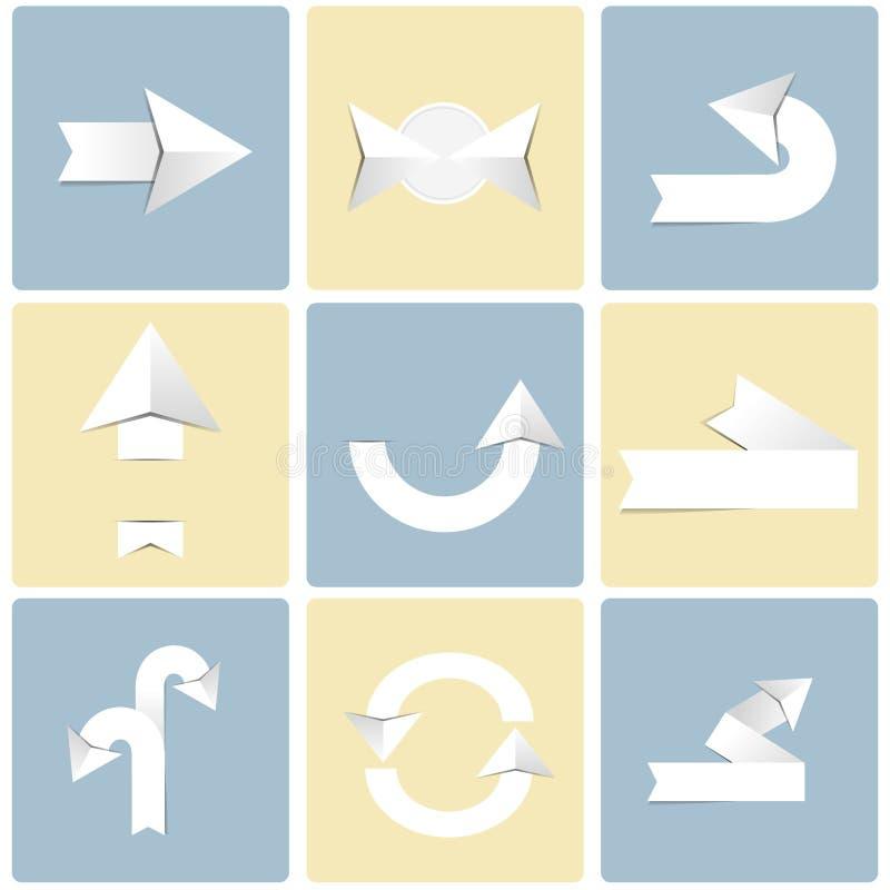 Σύνολο εικονιδίων σημαδιών βελών απεικόνιση αποθεμάτων