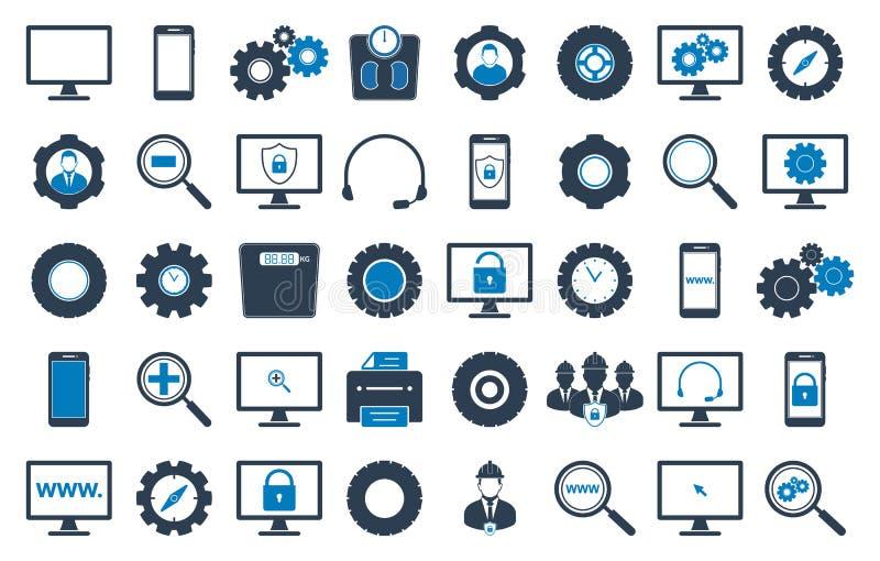 Σύνολο εικονιδίων τεχνολογίας διανυσματική απεικόνιση