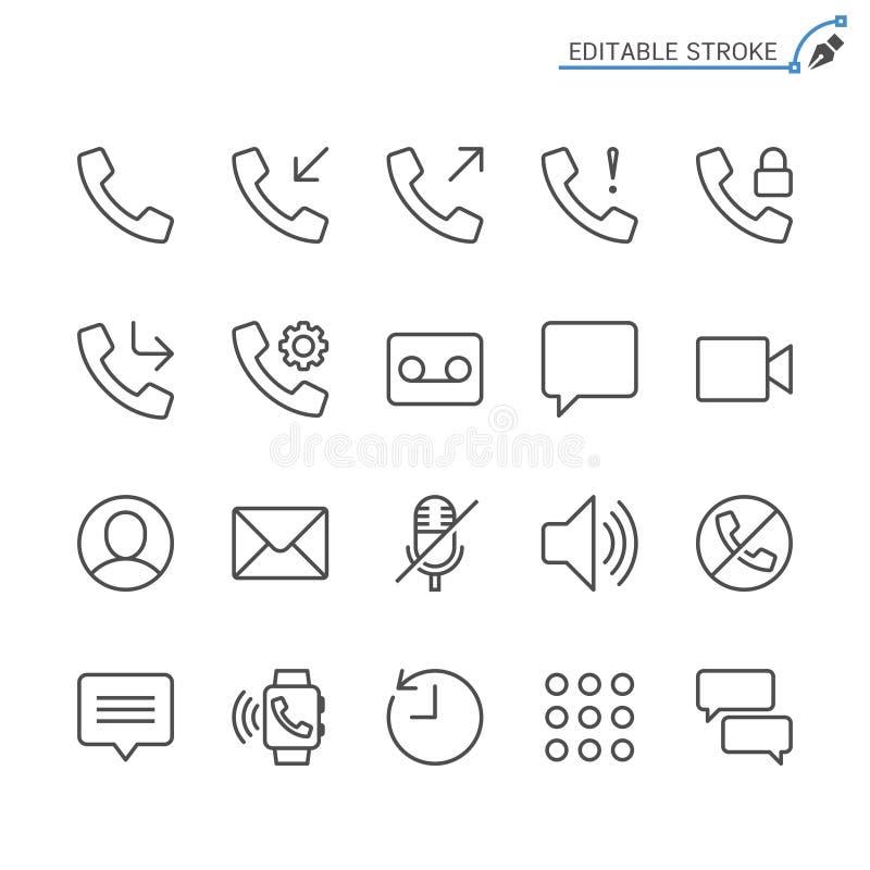 Σύνολο εικονιδίων τηλεφωνικών περιλήψεων ελεύθερη απεικόνιση δικαιώματος