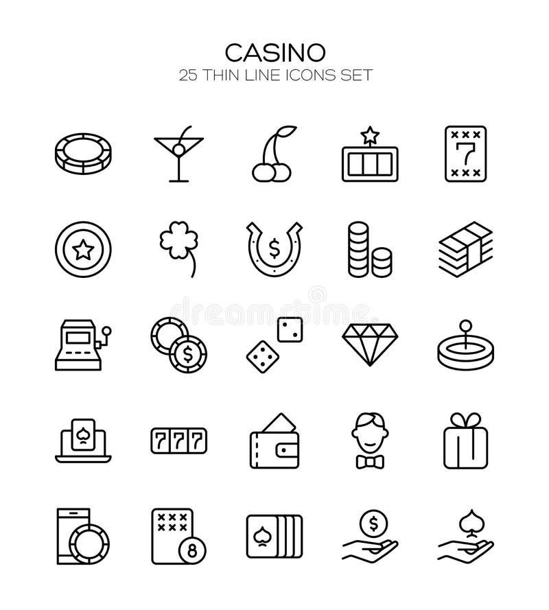 Σύνολο εικονιδίων χαρτοπαικτικών λεσχών απεικόνιση αποθεμάτων
