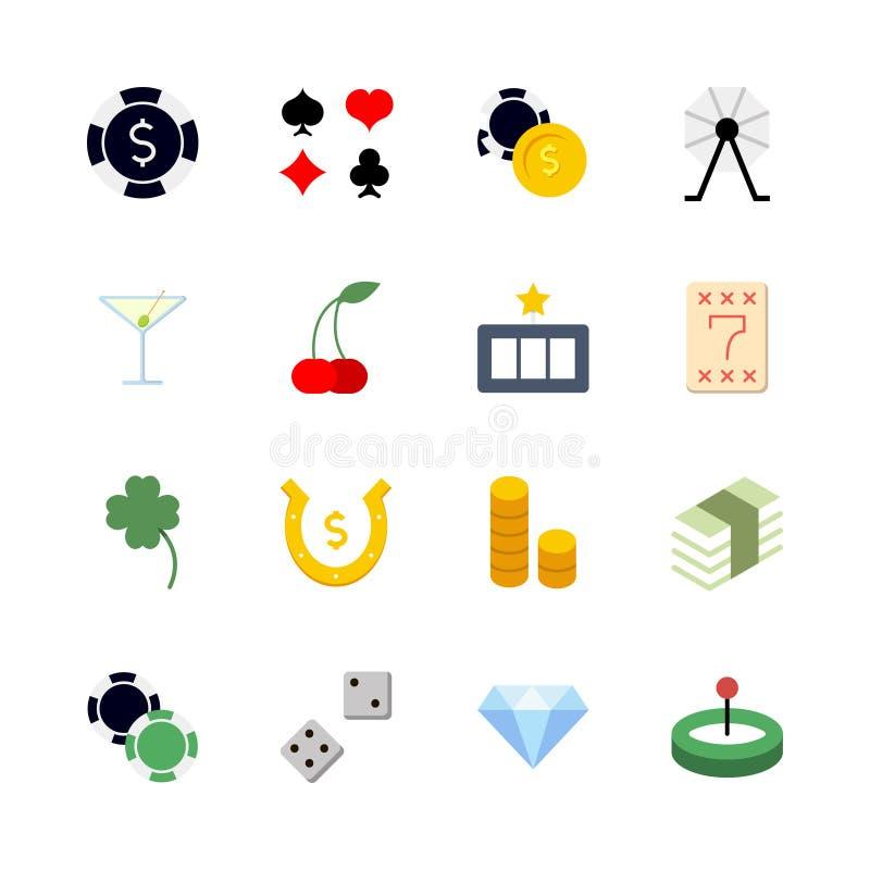 Σύνολο εικονιδίων χαρτοπαικτικών λεσχών διανυσματική απεικόνιση