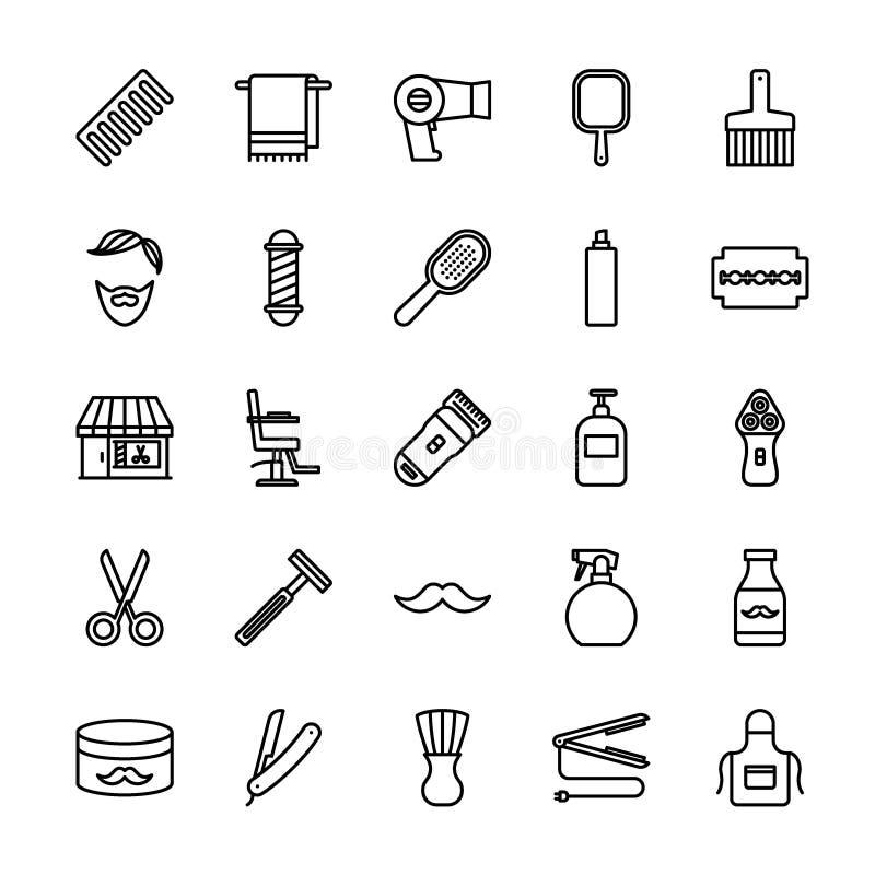 Σύνολο εικονιδίων Barbershop απεικόνιση αποθεμάτων