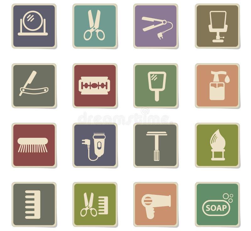 Σύνολο εικονιδίων Barbershop ελεύθερη απεικόνιση δικαιώματος