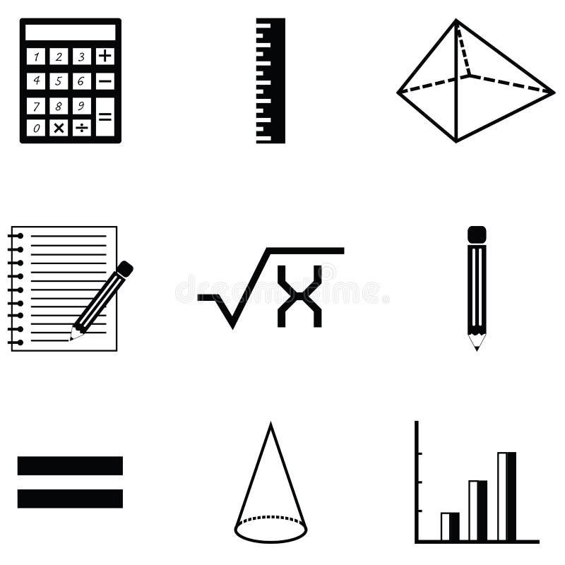 Σύνολο εικονιδίων Math απεικόνιση αποθεμάτων