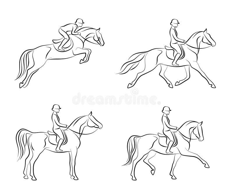 Σύνολο εκπαίδευσης αλόγου σε περιστροφές ελεύθερη απεικόνιση δικαιώματος
