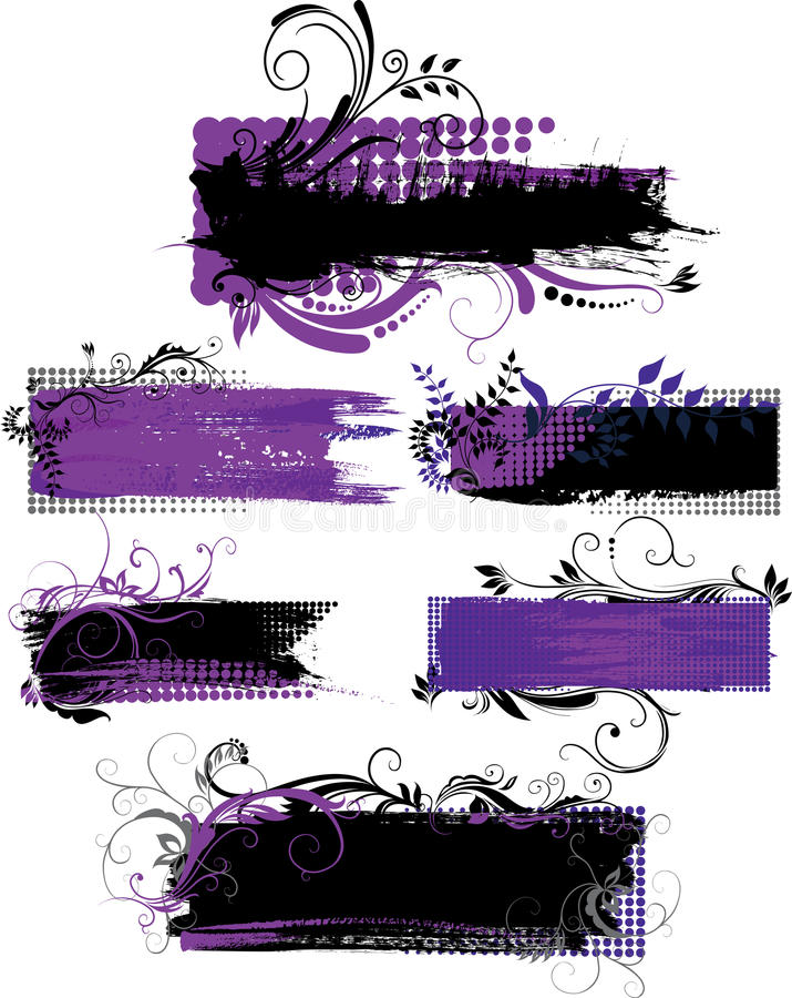 Σύνολο εμβλημάτων grunge με τα πρότυπα διανυσματική απεικόνιση